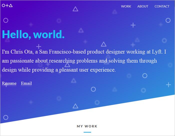 نمونه وبسایت طراحی تک صفحه ای سایت