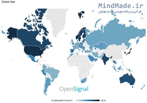 آمار نفوذ شبکه اینترنت 4G